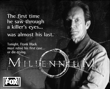Millennium print ad image for The Thin White Line.