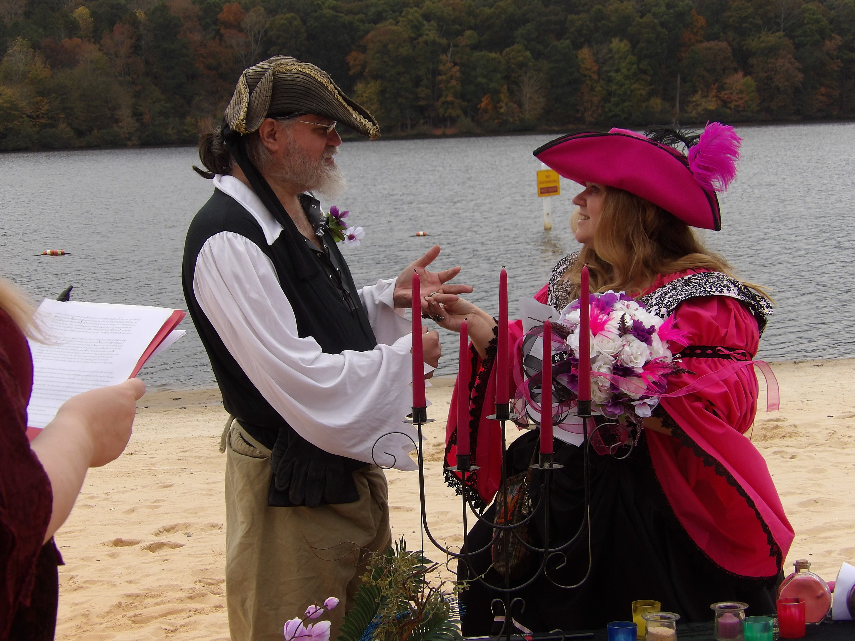 Erin McRaven & Terry Cass Pirate Wedding on Halloween!