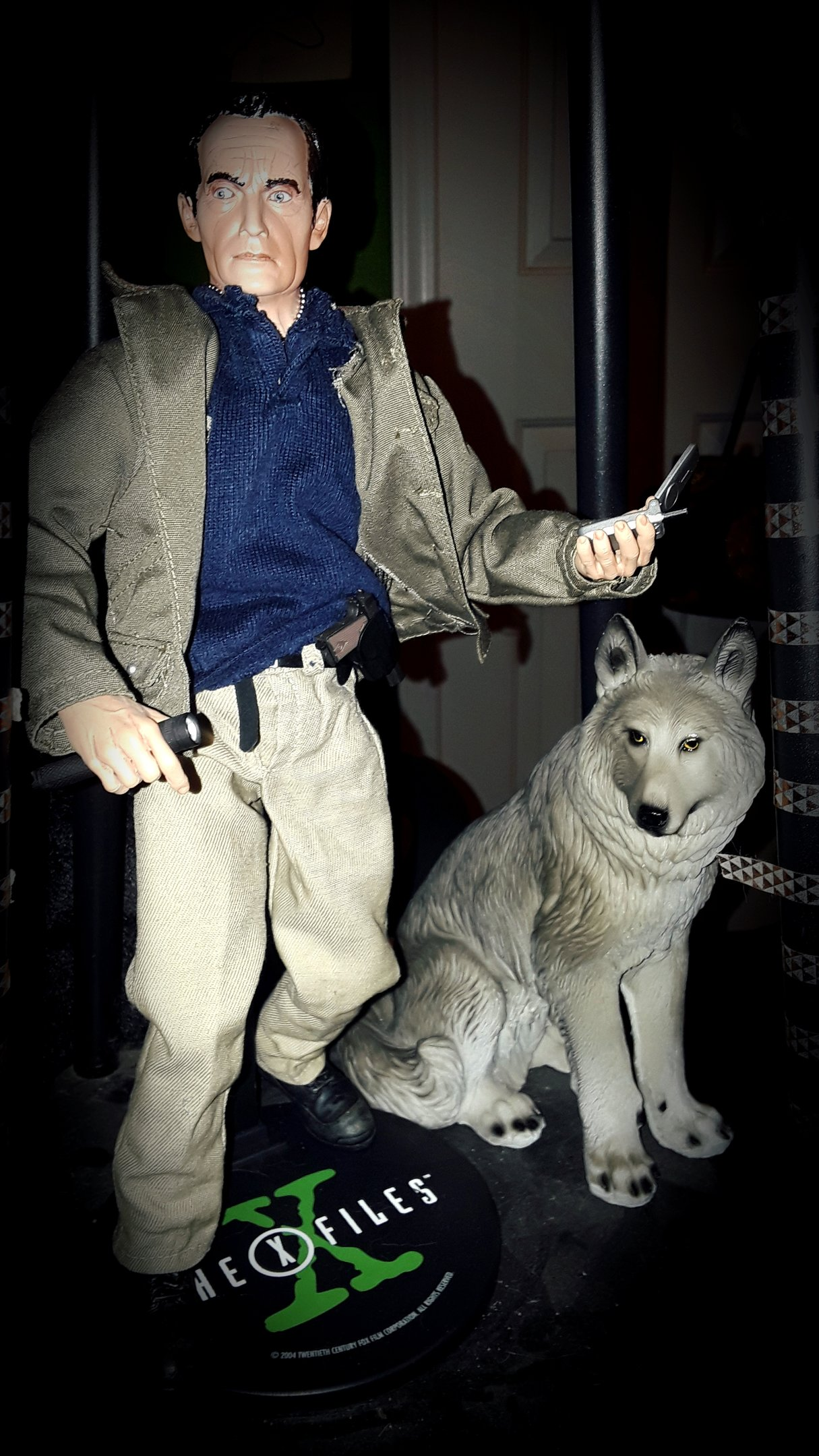 Frank Black figure with Wolf