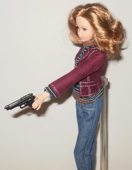 Lara Means custom Barbie/doll: Taking aim